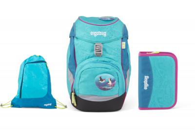 Školský set Ergobag prime Tropical - batoh + peračník + športový vak