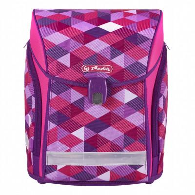 Školská taška Herlitz Midi - Ružové kocky