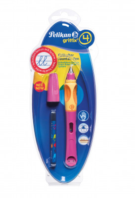 Bombičkové pero Griffix 4 pre pravákov - ružové