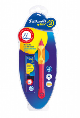 Ceruzka Griffix 2 pre pravákov - červená