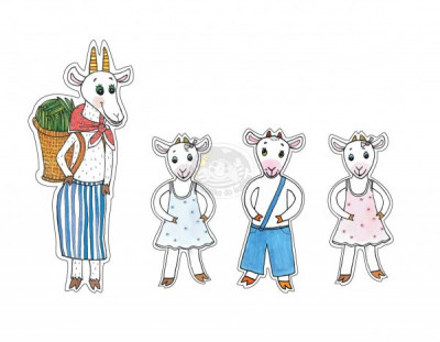 Marionetino - Bábkový balíček bez tyčiek - O neposlušných kozliatkach