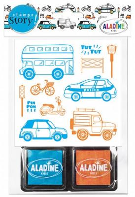 Rozprávacie pečiatky StampoStory – dopravné prostriedky