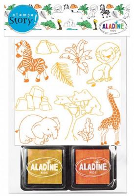 Rozprávacie pečiatky StampoStory – safari