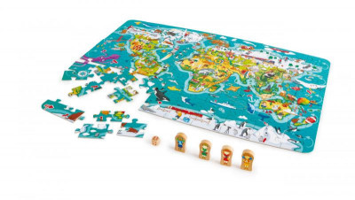 Detské puzzle – Mapa sveta 2 v 1