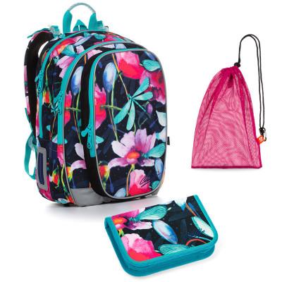 Set pre školáčku MIRA 20007 G SET MEDIUM - školská taška, vrecko na prezuvky, školský peračník