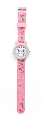 Dětské hodinky s kočkou