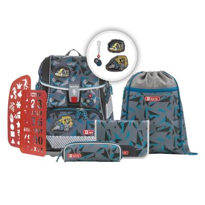 Školská aktovka/ruksak 2V1 pre prváčikov – 6-dielny set, Step by Step Stone, certifikát AGR