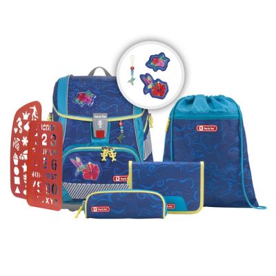 Školská aktovka/ruksak 2V1 pre prváčikov – 6-dielny set, Step by Step Kolibrík, certifikát AGR