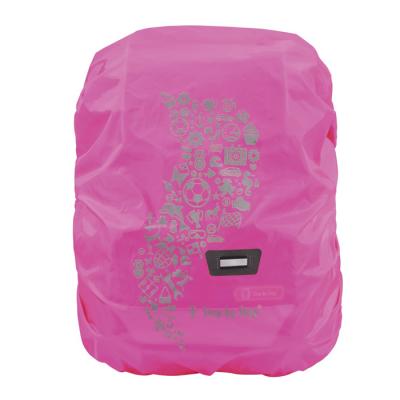 Pláštěnka pro školní aktovku nebo batoh, růžová
