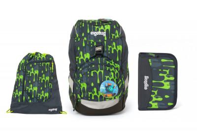 Školní set Ergobag prime Monster 2020 - batoh + penál + sportovní pytel