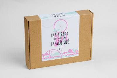 Pikle – Párty súprava na výrobu 5 ks Lapačov snov – ružová, mint