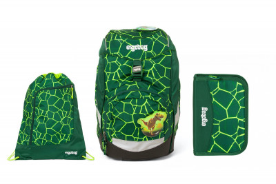Školský set Ergobag prime Rex 2020 - batoh + peračník + športový vak