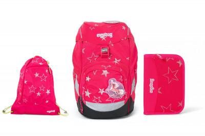 Školský set Ergobag prime Růžový 2020 - batoh + peračník + športový vak