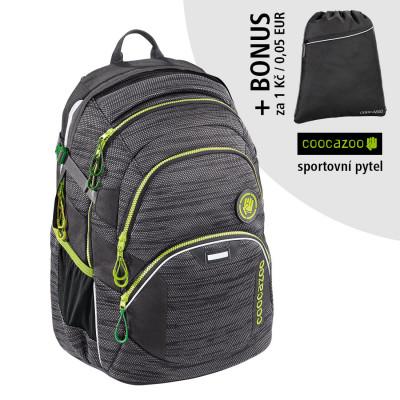 Školský batoh Coocazoo JobJobber2, Black Knit + športový vak za 0,05 EUR