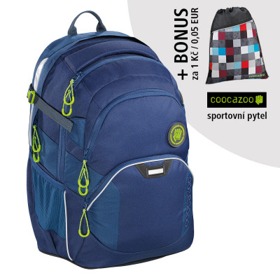 Školský batoh Coocazoo JobJobber2, Solid Seaman + športový vak za 0,05 EUR