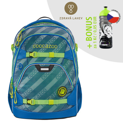 Školský ruksak coocazoo ScaleRale, MeshFlash Neonyellow, certifikát AGR + zdravá fľaša za 0,05 EUR