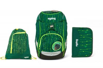 Školní set Ergobag prime Fluo zelený 2020 - batoh + penál + sportovní pytel