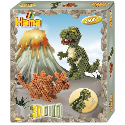 Hama Midi – 3D darčeková súprava – Dino – 2 500 ks