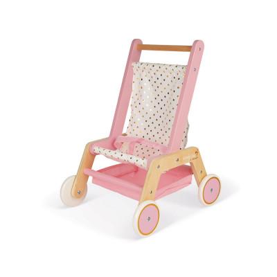 Drevený kočík pre bábiky - bugina