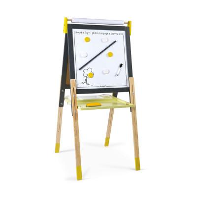 Magnetická oboustranná a polohovatelná tabule - žlutá a šedá