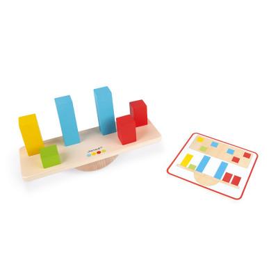 Váhy a závažia s predlohami - séria Montessori