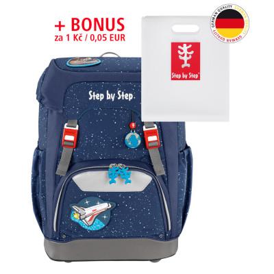 Školský ruksak GRADE Step by Step - Vesmírna rakéta + dosky na zošity za 0,05 EUR