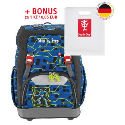 Školský ruksak GRADE Step by Step - Robot + dosky na zošity za 0,05 EUR