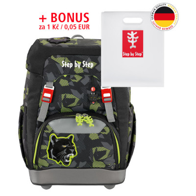 Školský ruksak GRADE Step by Step - Čierny panter + Dosky na zošity za 0,05 EUR