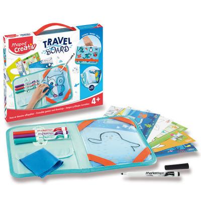 Výtvarný kufrík MAPED Creativ - Hry a kreslenie so zvieratkami
