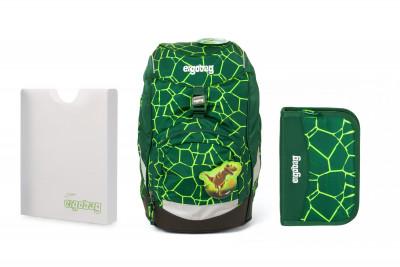 Školní set Ergobag prime Rex 2020 - batoh + penál + desky