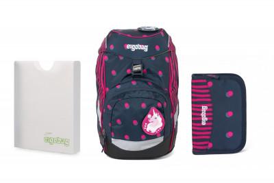 Školní set Ergobag prime Confetti 2020 -batoh + penál + desky