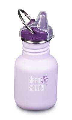Detská nerezová fľaša Klean Kanteen Kid Classic w/Kid Sippy Cap - sugar plum fairy matte 355 ml