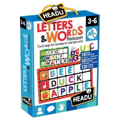 HEADU: Montessori – Bingo – Písmená a slová