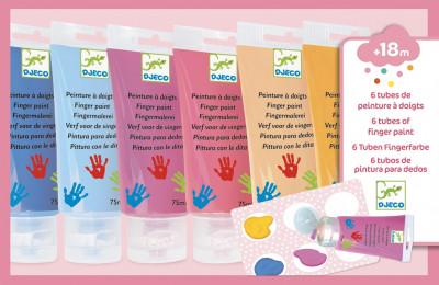 Prstové farby v tube pre dievčatá – 6 ks