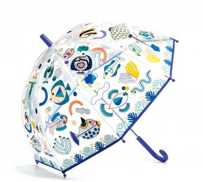 Detský dáždnik s magickou farbou - ryby