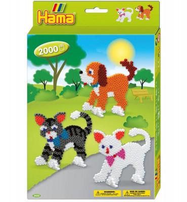 Hama midi - Dárková sada - kočky - 2000 ks