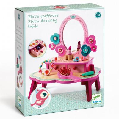 Drevený toaletný stolík - Flora