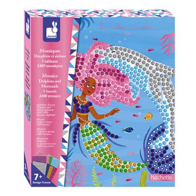 Detský ateliér maxi - mozaika - delfíny a morské panny