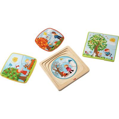 Drevené puzzle - 4 ročné obdobia