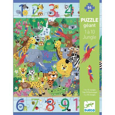 Puzzle - Džungľa od 1 do 10 - 54 ks