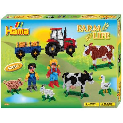 Hama Midi - Veľká darčeková súprava - Farma