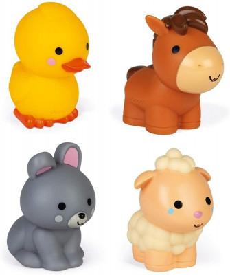Domáce zvieratká - hračka do vody - 4 ks