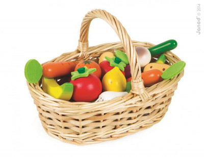 Zelenina a ovocie v košíku - 24 ks