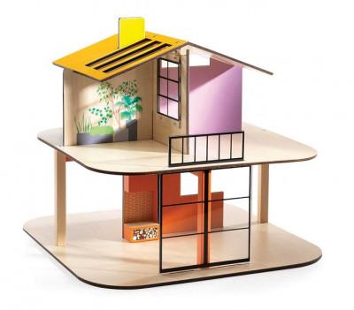 Domček pre bábiky - farebný domček