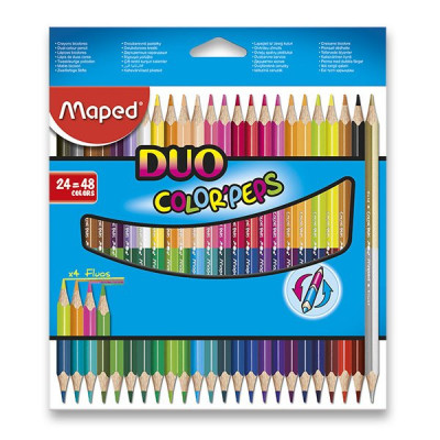 Pastelky Maped Color'Peps Duo - oboustranné pastelky, 48 barev