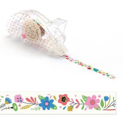 Dekorační lepicí páska - květiny
