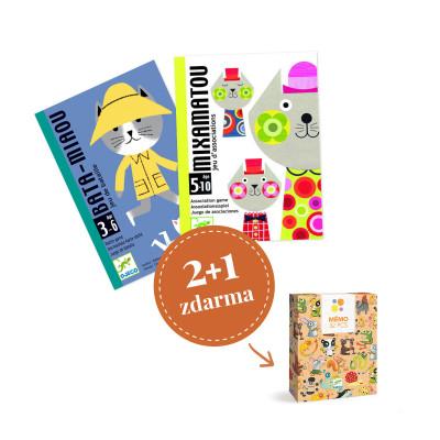 Balíček kartových hier Djeco - Pre milovníkov mačiek