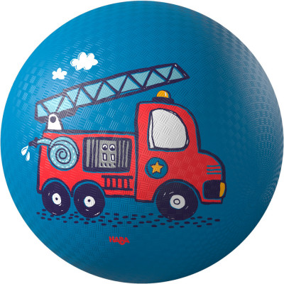 Lopta pre deti - Hasičské auto - 18 cm