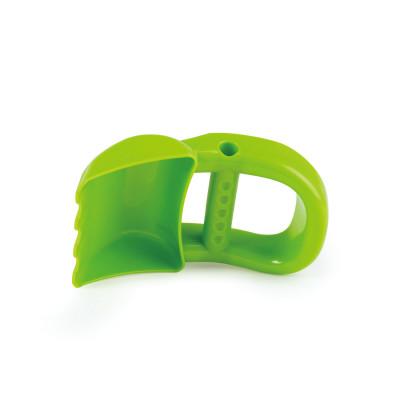 Ruční bagr, zelený - hračka na písek
