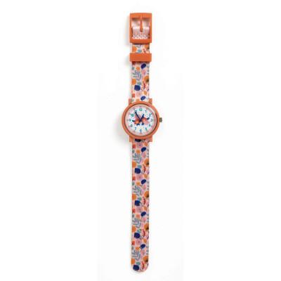 Detské hodinky s kvetinami